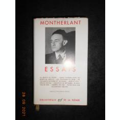 MONTHERLANT - ESSAIS (1963, editie bibliofila pe hartie velina de biblie)