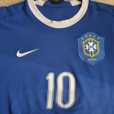 Tricou fotbal Brazilia 2006-2008 away/deplasare, Ronaldinho, S