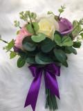 Buchet de mireasa din trandafiri de sapun