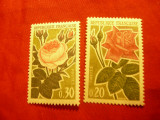 Serie Franta 1962 - Flora - Trandafiri , 2 valori