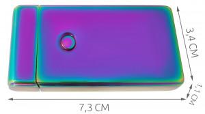Bricheta cu flacara anti-vant, functioneaza fara gaz, incarcare USB 5V, culoare cameleon