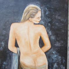 Pictura nud cu spatele semnat Cimpoesu