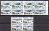 Filipine  1962  malaria  vulcani  MI 710-712  bloc de 4     MNH  w67, Nestampilat