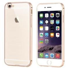 Husa Bumper Aluminiu+Capac TPU i-berry Pentru Iphone 6,6S Auriu