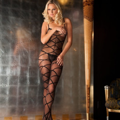 Catsuit Strapped Up Sheer