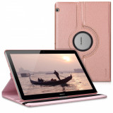 Husa pentru Huawei MediaPad T3 10, Piele ecologica, Rose Gold, 41887.81