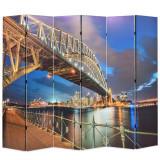 Paravan de cameră pliabil, 228 x 170 cm, Sydney Harbour Bridge