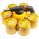 Set lampa pentru sudat cu 6 butelii cu gaz lichid TOPEX 44E148