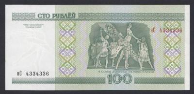 A3870 Belarus 100 rubley ruble 2000 UNC foto