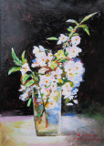 Tablou flori semnat Cimpoesu dupa Grigorescu.