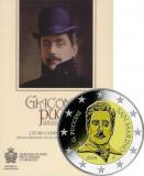SAN MARINO 2014 2 Euro comemorativ - Giacomo Puccini - BU / Folder, Europa