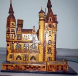 UNICAT - Castelul Peleș - machetă din furnir, lăcuit (handmade)