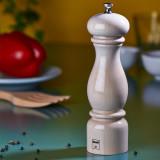 Rasnita pentru sare lemn alb lacuit Bisetti 22 cm