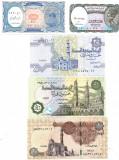 !!! EGIPT - LOT 5 + 10 + 25 + 50 PIASTRI + 1 POUND 2002-2017 - UNC/CELE DIN SCAN