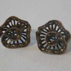 Cercei argint cu marcasite -578