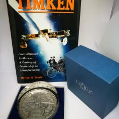 Placheta reprezantand centenarul Timken + Carte