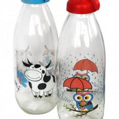 Sticla pentru lapte cu decor, 0154117, 1 L