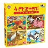 Puzzle 4 Prieteni Mici, 50 piese, Noriel