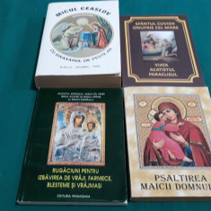 LOT 4 CĂRȚI ORTODOXE : PSALTIREA MAICII DOMNULUI, MICUL  CEASLOV/ 2000