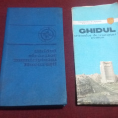 GHIDUL STRAZILOR MUNICIPIULUI BUCURESTI  1969 / GHIDUL TRASEELOR DE TRANSPORT