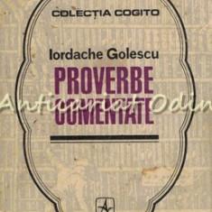Proverbe Comentate - Iordache Golescu