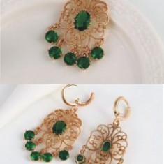 Set bijuterii Chandelier Emerald