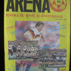 Revista fotbal - Arena, nr. septembrie-1990
