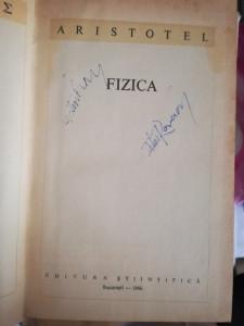 Fizica, ARISTOTEL, 1966