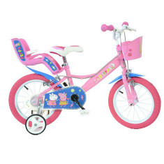 Bicicleta copii 14'' - Purcelusa Peppa PlayLearn Toys