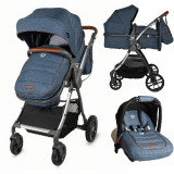 Carucior Transformabil 3 in 1 Acero Jeans, Coccolle