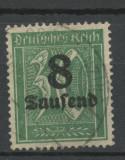 1923-INFLATIA -GERMANIA- MI 278y., Stampilat