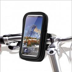 Suport telefon bicicleta / moto cu husa rezistenta la intemperi 05HD21 ManiaCars