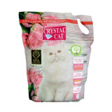 Crystal Cat nisip silicatic Trandafir, 3.8 l