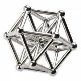 Joc de indemanare, 36 bari magnetice si 27 bile, argintiu