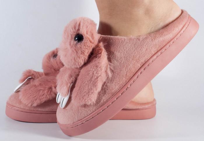 Papuci de casa roz (cod 418002)