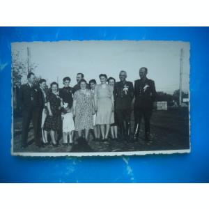 HOPCT  130 G - FOTOGRAFIE VECHE MILITARI ROMANI LA NUNTA-TIP CP