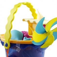 Galeata cu 9 jucarii de nisip albastra B.Toys