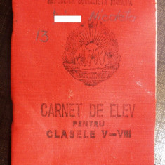 Carnet de elev