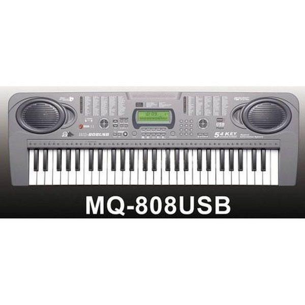 Orga electronica cu 54 clape MQ-808USB cu microfon si citire USB/MP3