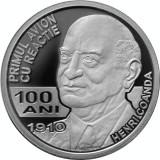 Moneda Romania 10 Lei 2010 - PROOF ( 100 ani primul avion cu reactie H. Coanda )