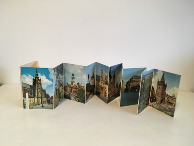 *set vederi tip evantai cu imagini din Praga, vechi foto