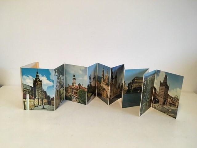 *set vederi tip evantai cu imagini din Praga, vechi