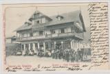 Busteni-Hotel Focsaneanu  - Salutari din Romania, Circulata, Printata