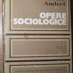 OPERE SOCIOLOGICE VOL.1 SOCIOLOGIA CUNOASTERII SI A VALORII - PETRE ANDREI