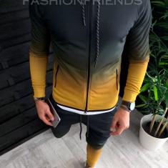 Trening barbati GALBEN in DEGRADE PREMIUM - Bluza + Pantaloni - A2634, L, M, S, XL, Din imagine, Nocciola