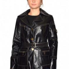 Haina dama, din piele naturala, marca Kurban, 888-01-95, negru