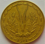 Moneda exotica 10 FRANCI - AFRICA de VEST, anul 1971 *cod 1155