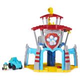 Turnul de control Dino cu vehicul si catelus exclusiv Rex Patrula Catelusilor, Multicolor, Spin Master