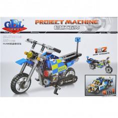 Cuburi constructii Motocicleta Politie 246 piese
