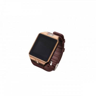 "Ceas Smartwatch KMAX S1, ceas cu functie telefon, SIM card, MicroSD, Camera foto/video, display 1.54"", Gold foto"